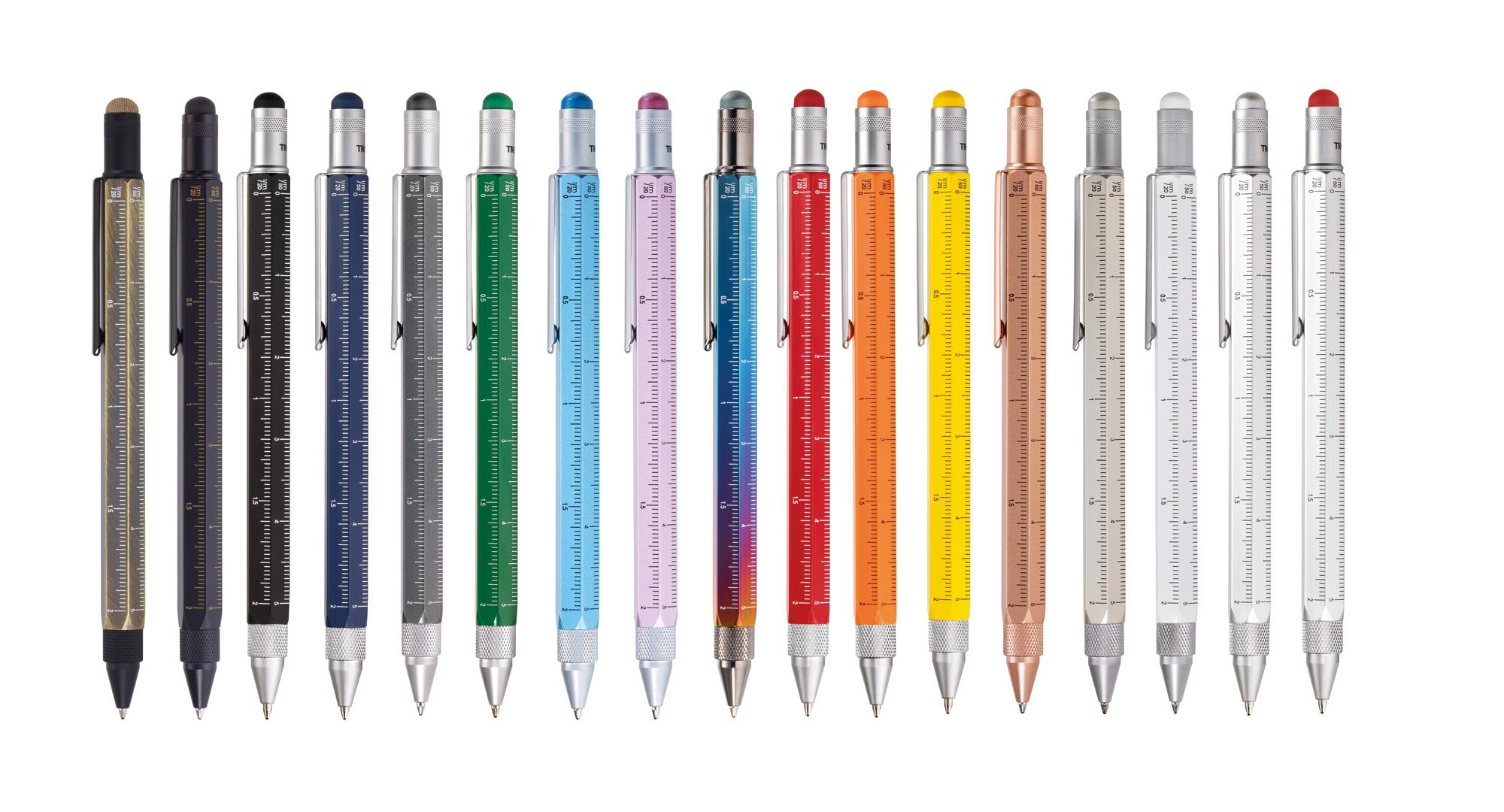 Multitasking Kugelschreiber in vielen verschiedenen Farben (blau, rot, grün, gelb, schwarz, grau, weiß, orange)